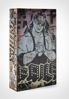 Lot 88 - Faile  (Collaboration), 'NYC Box 38 (Butterfly Girl)', 2007