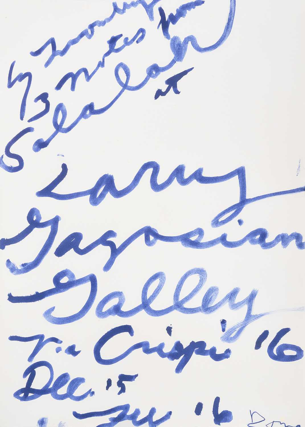 Lot 19-Cy Twombly (American 1928-2011), 'Three Notes from Salalah Poster', 2008