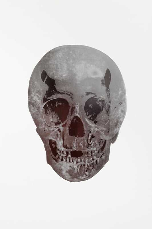 Lot 22-Damien Hirst (British 1965-), 'Silver Gloss/Chocolate Skull', 2009