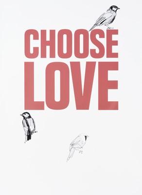 Lot 12-Charming Baker (British 1964-), 'Choose Love', 2019