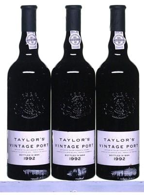 Lot 2-3 bottles 1992 Taylor