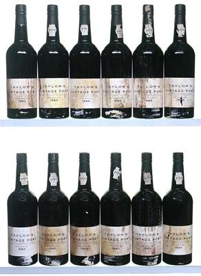 Lot 1-12 bottles 1985 Taylor