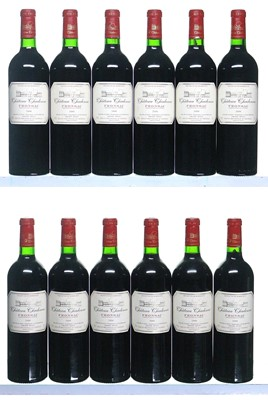 Lot 33-12 bottles 2000 Chateau Chadenne