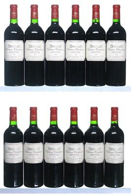 Lot 35-12 bottles 2000 Chateau Chadenne