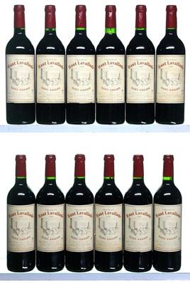 Lot 28-12 bottles 1999 Chateau Haut-Lavallade