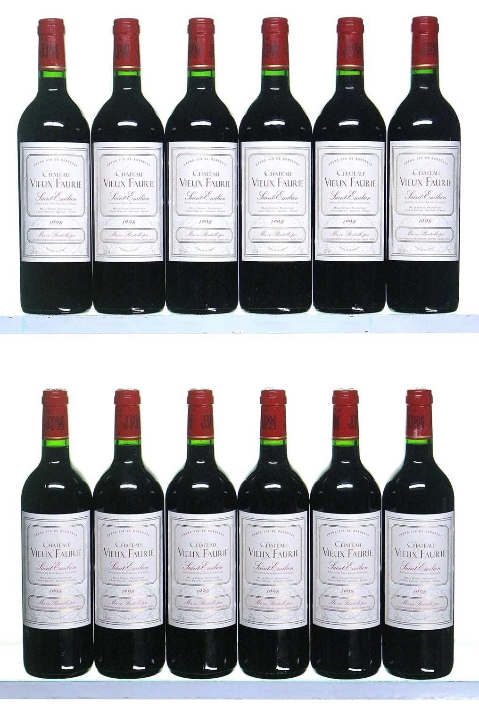 Lot 23-12 bottles 1998 Chateau Vieux Faurie