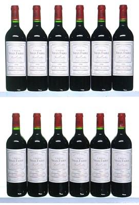 Lot 25-12 bottles 1998 Chateau Vieux Faurie