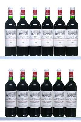 Lot 48-12 bottles 2001 Chateau Maison Blanche