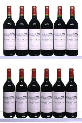Lot 7-12 bottles 1994 Chateau Pontet-Canet