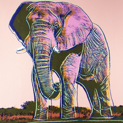 Lot 5-Andy Warhol (American 1928-1987), 'Elephant, from Endangered Species', 1983