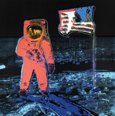 Lot 4-Andy Warhol (American 1928-1987), 'Moonwalk 405 Pink', 1987