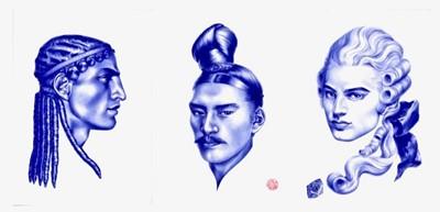 Lot 7-Cary Kwok (Hong Kong 1975-), 'Plumage - Greek (7th Century B.C.), Chinese (Qin Dynasty), French (1780's)', 2007