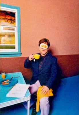 Lot 3-David LaChapelle (American 1963-), 'Elton John: Egg On His Face', 1999