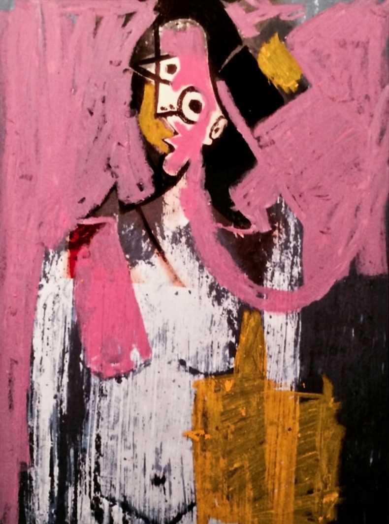 Lot 9-Enoc Perez (Puerto Rican 1967-), 'Untitled', 2014