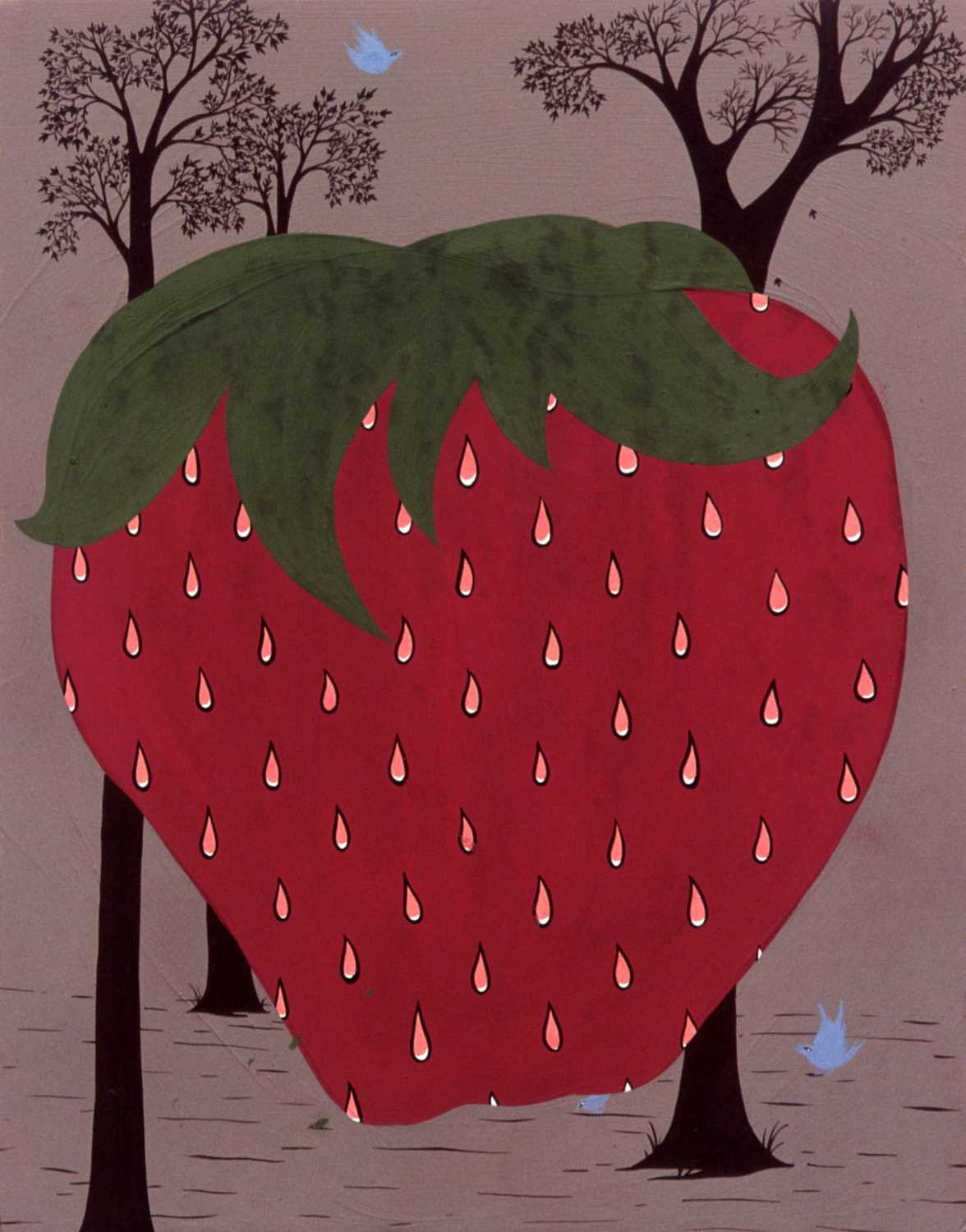 Lot 20-Clare Rojas (American 1976-), 'Strawberry', 2002