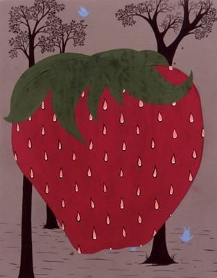 Lot 20-Clare Rojas (American 1976-), 'Strawberry', 2002