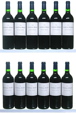 Lot 9-12 bottles 1995 Chateau Robin
