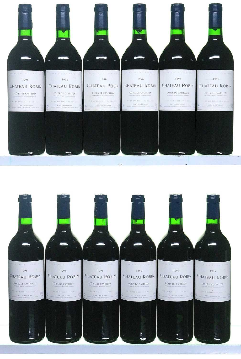 Lot 10-12 bottles 1995 Chateau Robin