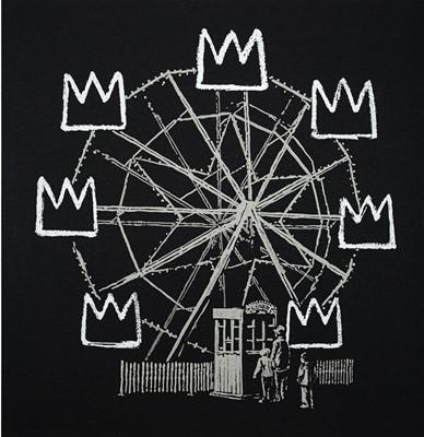 Lot 102a-Banksy (British 1974-), 'Banksquiat (Black)', 2019