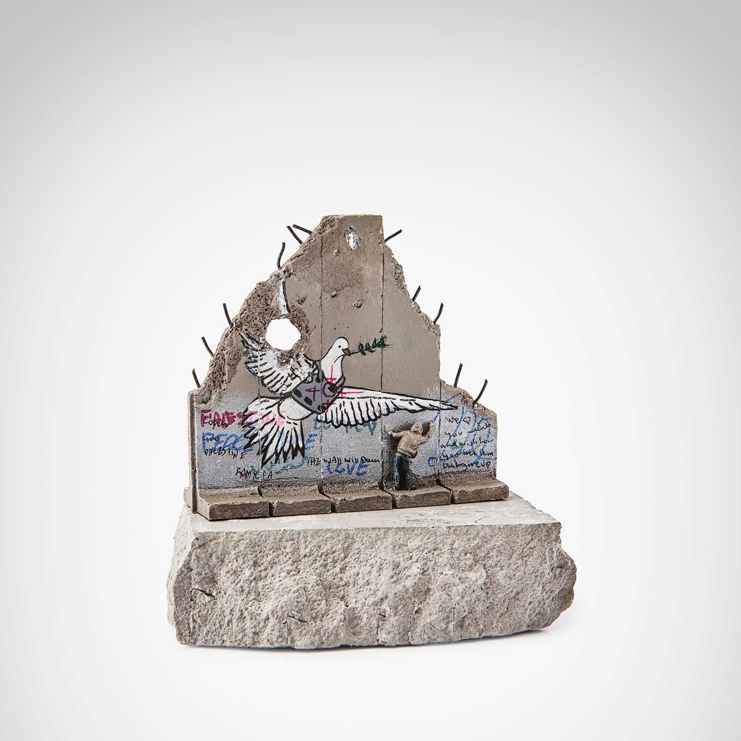 Lot 56-Banksy (British 1974 -), 'Walled Off Hotel - Peace Dove'