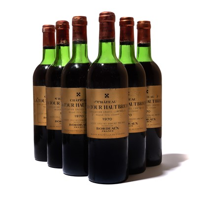 Lot 118-6 bottles 1970 Ch La Tour Haut Brion