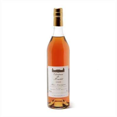 Lot 163 - 6 bottles 1989 Ch de Martet Armagnac