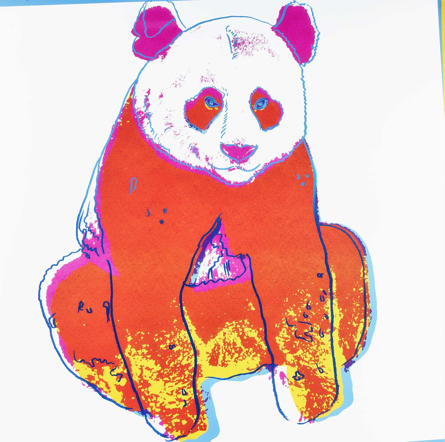 Lot 5-Andy Warhol (American 1928-1987), 'Giant Panda, from Endangered Species', 1983