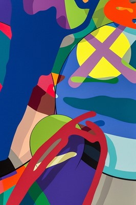 Lot 93-Kaws (American 1974-), 'Tension', 2019