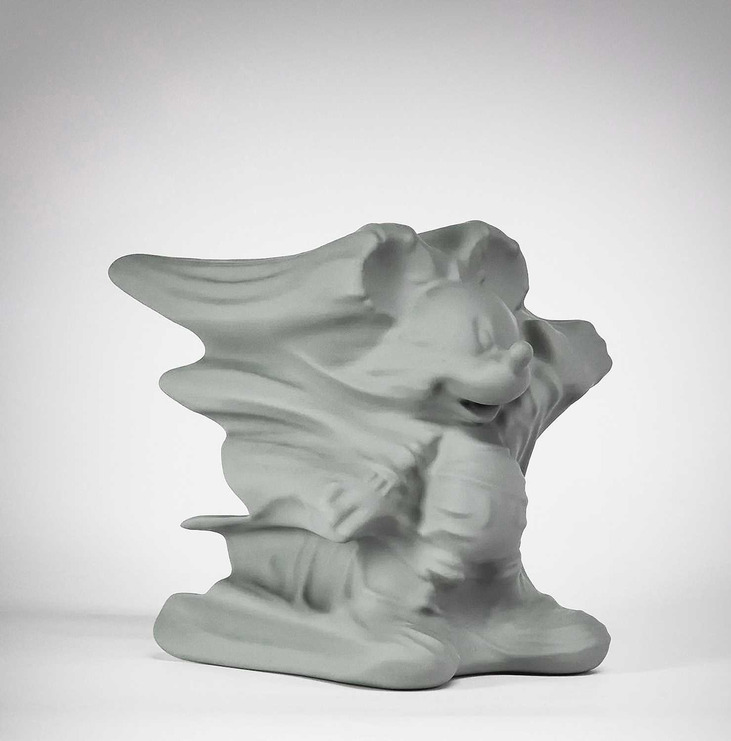 Lot 24-Daniel Arsham (American 1980-), 'Hollow Mickey (Grey)', 2019