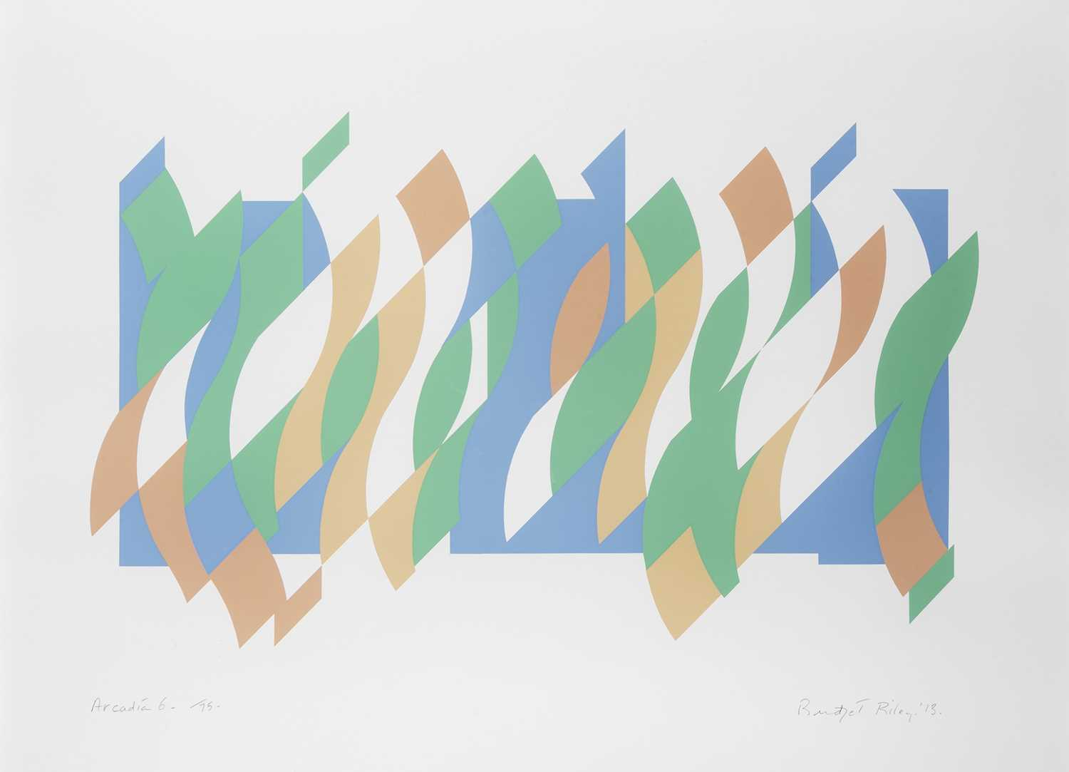 Lot 10 - Bridget Riley (British 1931-), 'Arcadia 6', 2013