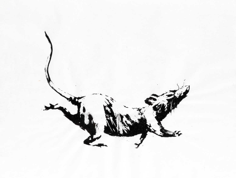 Lot 58-Banksy (British 1974-), 'GDP Rat', 2019
