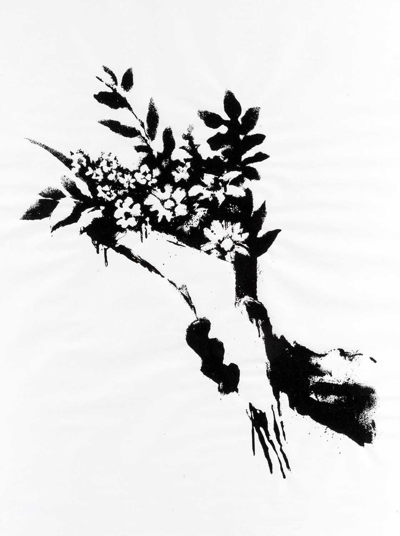 Lot 61-Banksy (British 1974-), 'GDP Flower Thrower', 2019