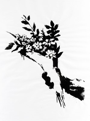 Lot 61 - Banksy (British 1974-), 'GDP Flower Thrower', 2019