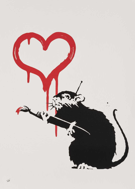 Lot 78-Banksy (British 1974-), 'Love Rat', 2004