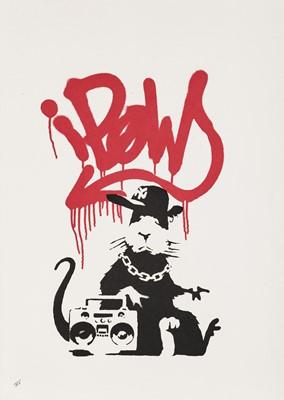 Lot 77 - Banksy (British 1974-), 'Gangsta Rat', 2004