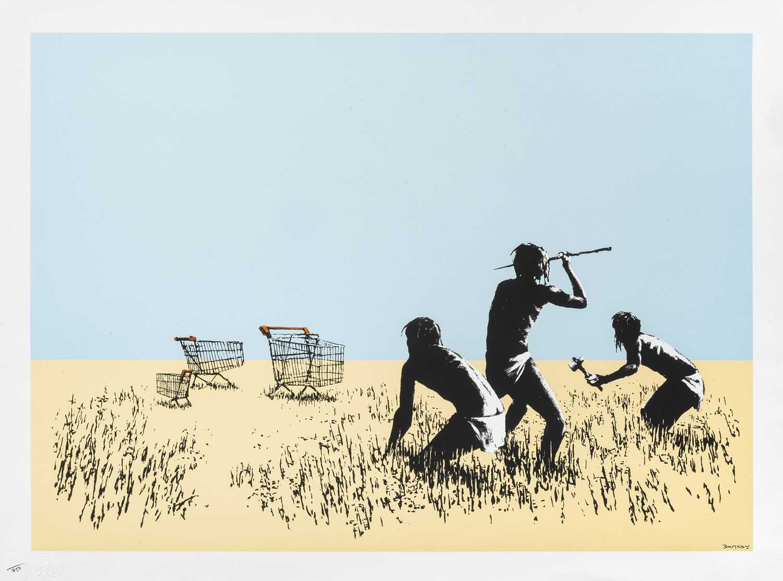 Lot 76-Banksy (British 1974-), 'Trolleys (Colour)', 2007 (Signed)