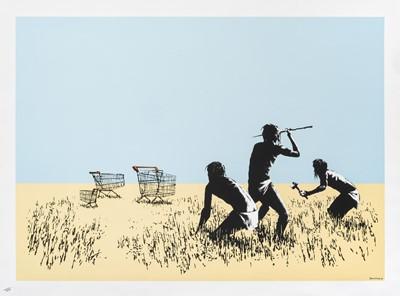 Lot 76 - Banksy (British 1974-), 'Trolleys (Colour)', 2007 (Signed)