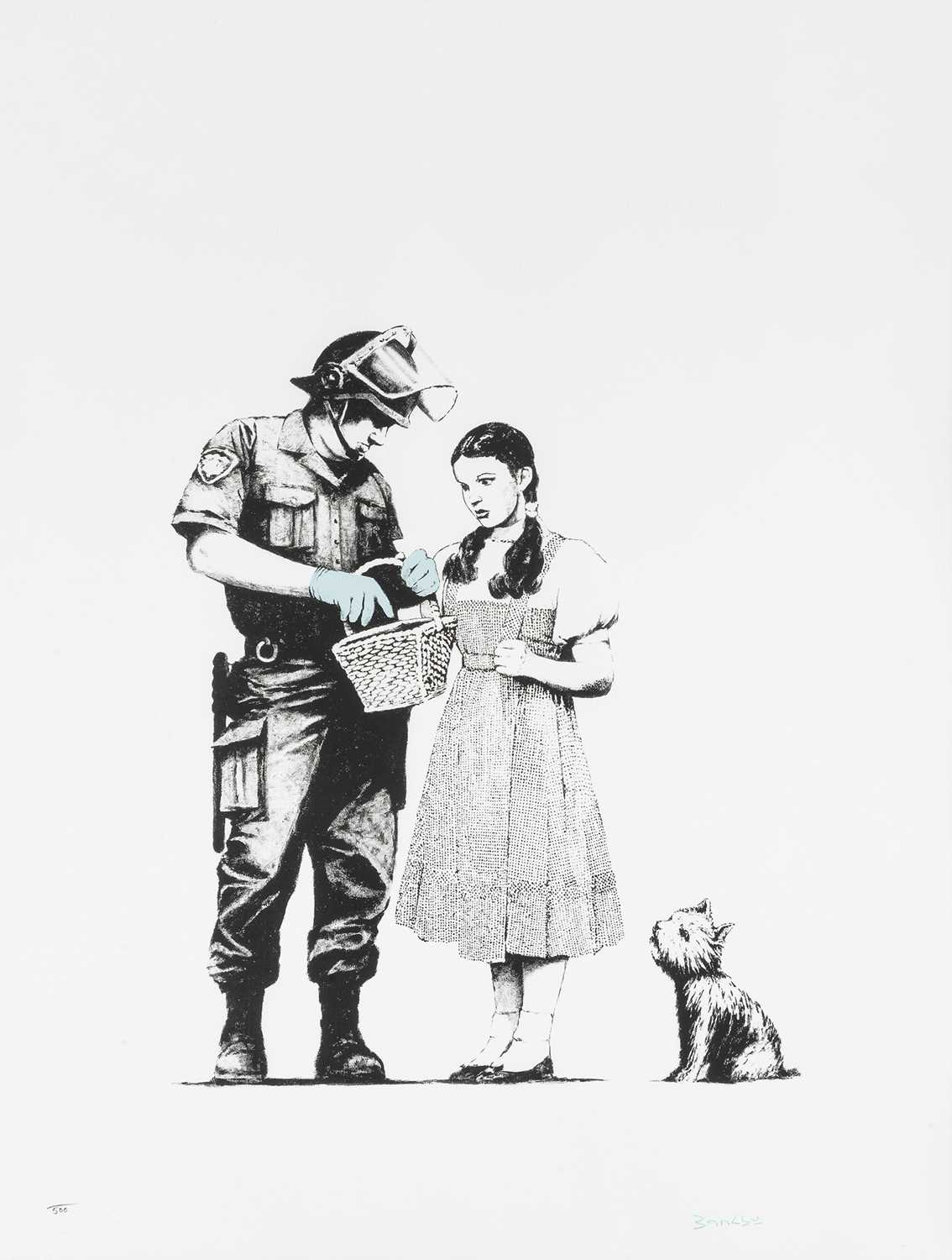 Lot 79-Banksy (British 1974-), 'Stop & Search', 2007