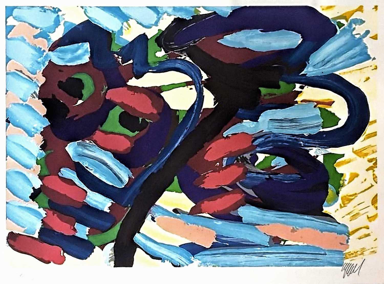 Lot 36-Karel Appel (Dutch 1921-2006), 'Loving Heads', 1979