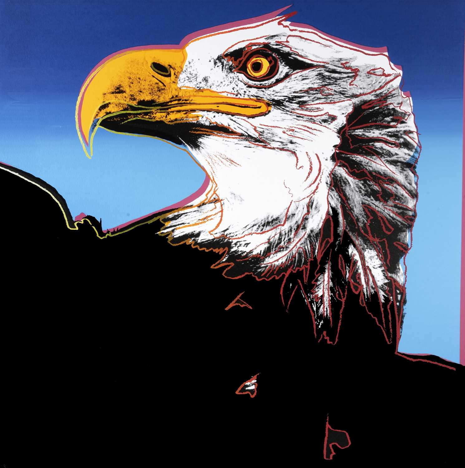 Lot 3-Andy Warhol (American 1928-1987), 'Bald Eagle, from Endangered Species', 1983