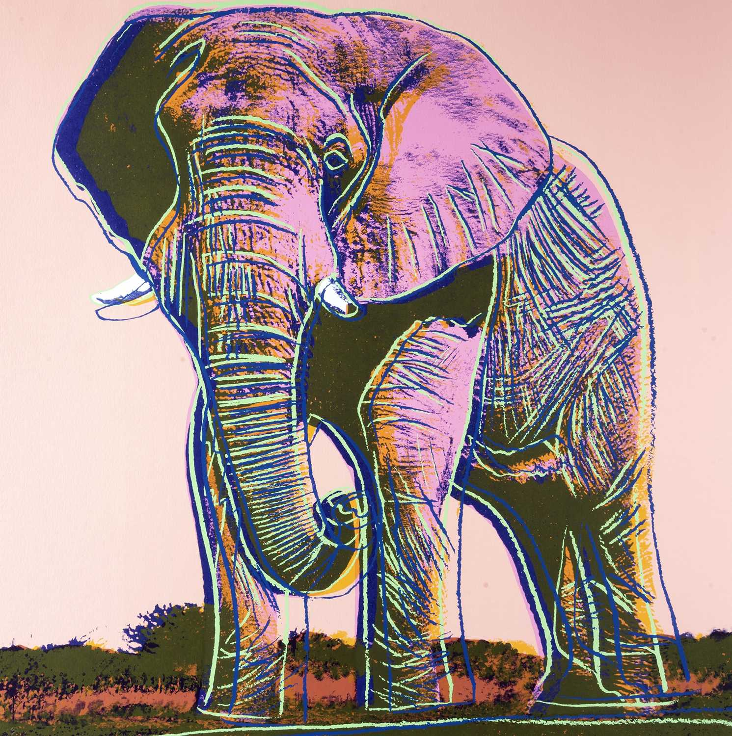 Lot 4-Andy Warhol (American 1928-1987), 'Elephant, from Endangered Species', 1983