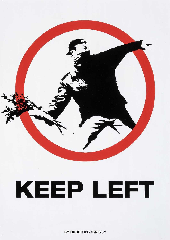Lot 65-Banksy (British 1974-), 'Keep Left (XXL)', 2006
