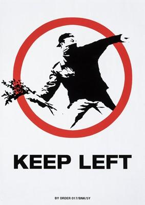 Lot 65 - Banksy (British 1974-), 'Keep Left (XXL)', 2006