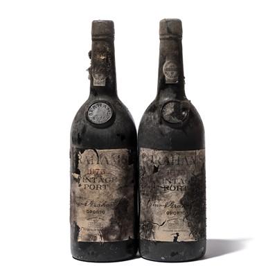 Lot 1-12 bottles 1975 Graham