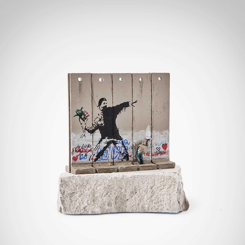 Lot 56-Banksy (British 1974-), 'Walled Off Hotel - Flower Thrower'