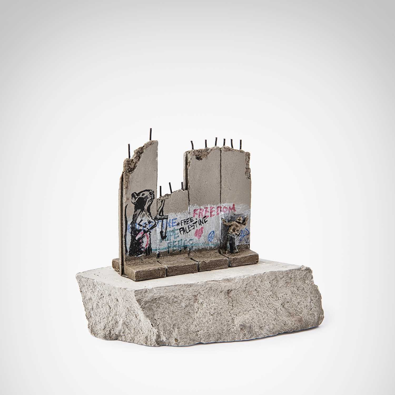 Lot 57-Banksy (British 1974 -), 'Walled Off Hotel - Slingshot Rat'
