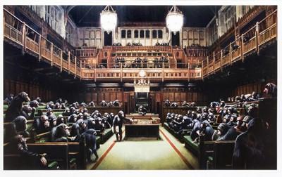 Lot 68 - Banksy (British 1974-), 'Monkey Parliament', 2009