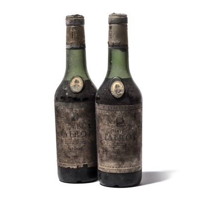 Lot 37 - 2 half-bottles 1961 Ch Talbot