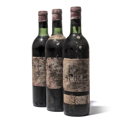 Lot 106-3 bottles 1970 Ch Lynch-Bages