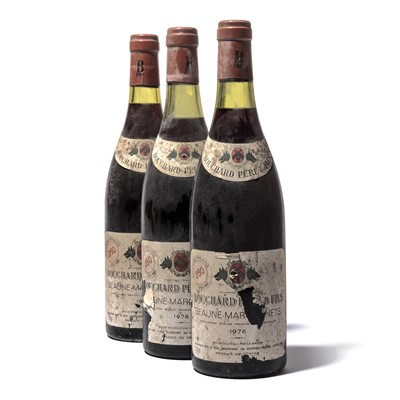 Lot 145-11 bottles 1976 Beaune Marconnets Bouchard P&F